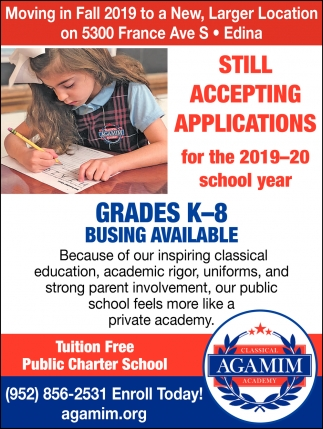 Still Accepting Applications for the 2019-20 School Year