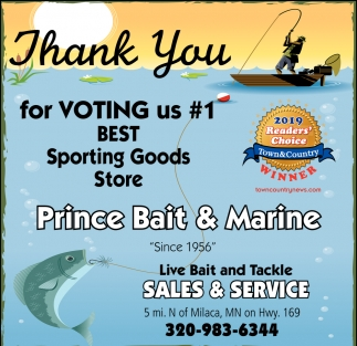 Thank You for Voting Us #1 Best Sporting Goods Store