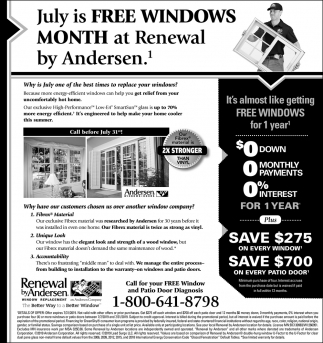 July is FREE Windows Month at Renewal by Andersen!