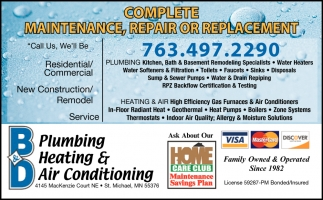 Complete Maintenance, Repair or Replacement