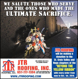 We Salute those who Serve and the Ones who Made the Ultimate Sacrifice