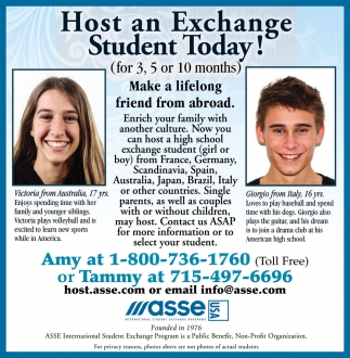 Host an Exchange Student Today!