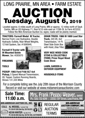 Farm Estate Auction