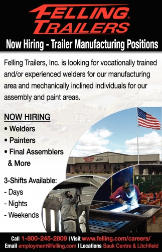 Now Hiring - Trailer Manufacturing Positions