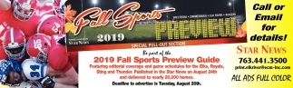 2019 Fall Sports Preview Guide