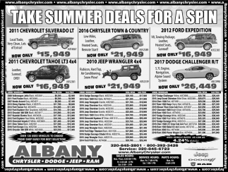 Take Summer Deals for a Spin