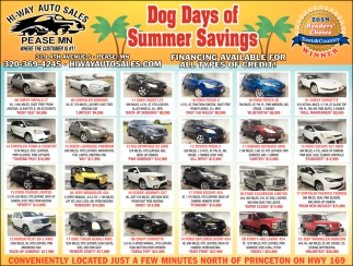 Dog Days of Summer Savings