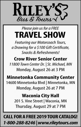 Please Join Us for a FREE Travel Show