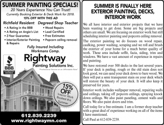 Summer Painting Specials!
