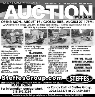 Dairy Farm Retirement Auction