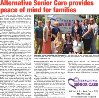 Alternative Senior Care Provides Peace of Mind for Families