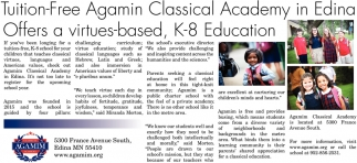Tuition-Free Agamin Classical Academy in Edina Offers a Virtues-Based, K-8 Education