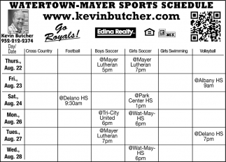 Watertown-Mayer Sports Schedule