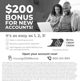 $200 Bonus for New Accounts!