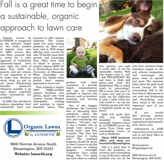 Fall is a Great Time to Begin a Sustainable, Organic Approach to Lawn Care