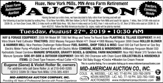 New York Mills, MN Area Farm Retirement Auction