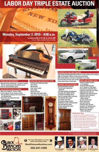 Labor Day Triple Estate Auction