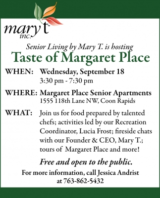 Taste of Margaret Place