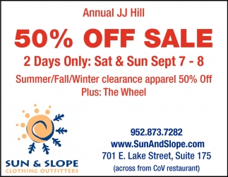 Annual JJ Hill 50% OFF Sale