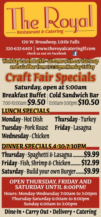 Craft Fair Specials
