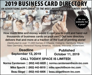 2019 Business Card Directory