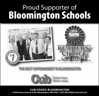 Proud Supporter of Bloomington Schools