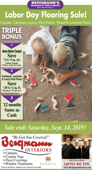 Labor Day Flooring Sale!