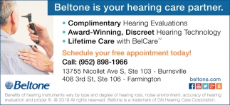Beltone is Your Hearing Care Partner