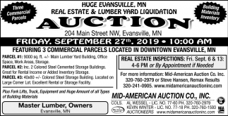 Real Estate & Lumber Yard Liquidation Auction