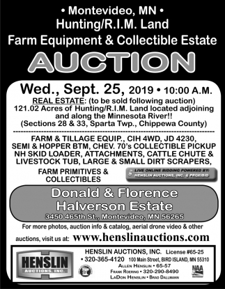 Farm Equipment & Collectible Estate Auction