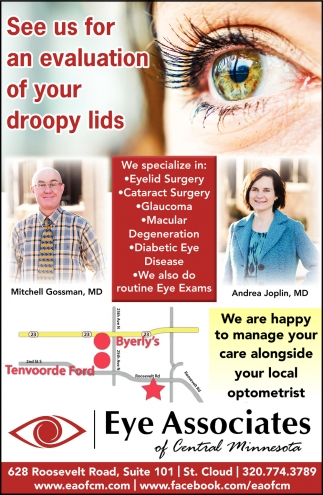 See Us for an Evaluation of Your Droopy Lids