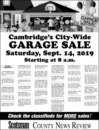 Cambridge's City-Wide Garage Sale