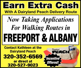 Now Taking Applications for Walking Routes in Freeport & Albany