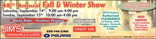 48th Annual Fall & Winter Show