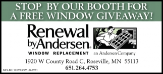 Stop by Our booth for a Free Window Giveaway!
