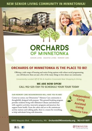 New Senior Living Community in Minnetonka!