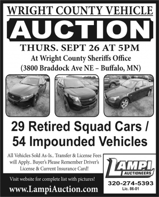 Wright County Vehicle Auction