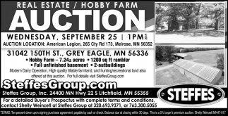 Real Estate / Hobby Farm Auction