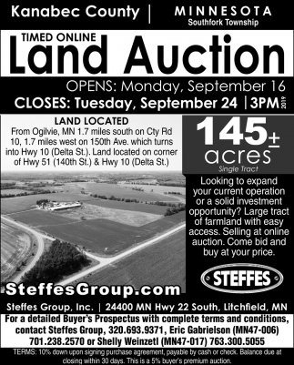 Timed Online Land Auction