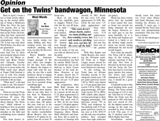 Get On the Twins' Bandwagon, Minnesota