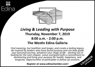 Living & Leading with Purpose