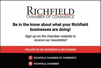 Sign Up On the Chamber Website to Receive Our Newsletter!