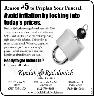 Reason #5 to Preplan Your Funeral