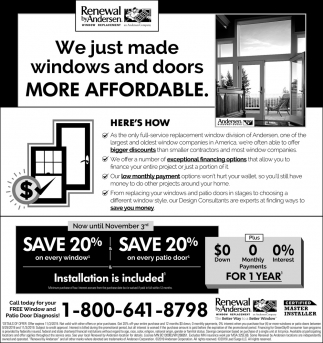 We Just Made Windows & Doors More Affordable