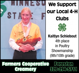 We Support Our Local 4-H Clubs