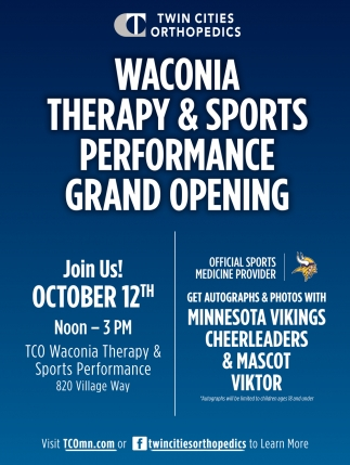 Waconia Therapy & Sports Performance Grand Opening