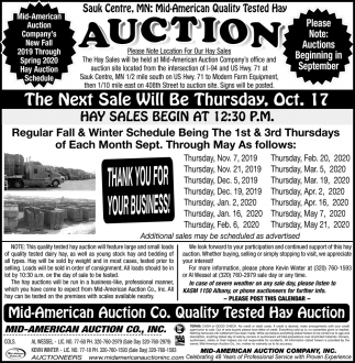 Mid-American Quality Tested Hay Auction