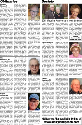 Obituaries Also Available Online