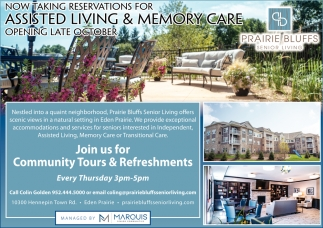 Join Us for Community Tours & Refreshments