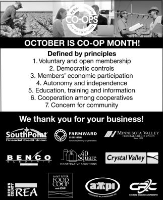 October is Co-op Month!